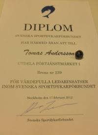 årsmöte 2012 diplom förtjänsttecken brons