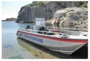 Dykvecka 2012 båt